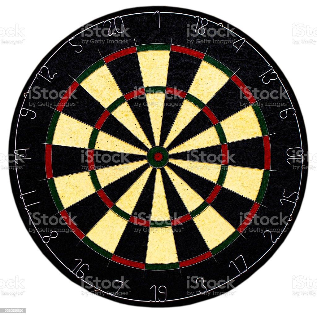 Classic Darts Board with Twenty Black White Sector stock photo