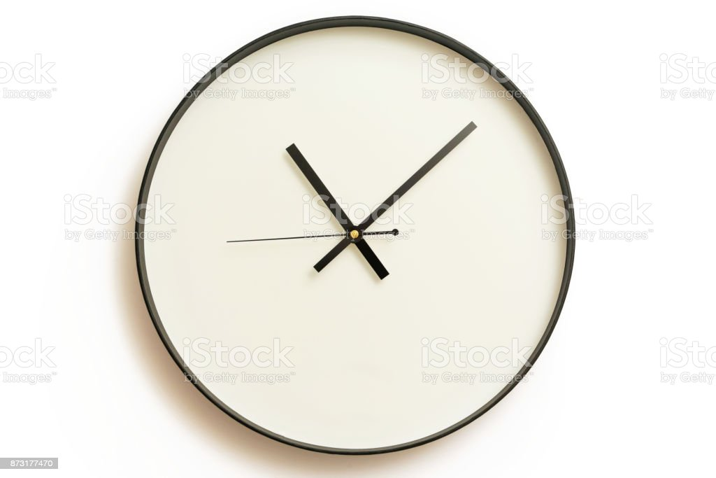 Classic design wall clock stock photo