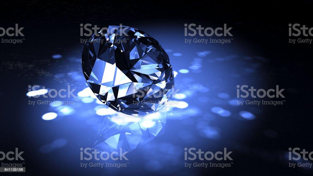 Classic diamond 3D render stock photo