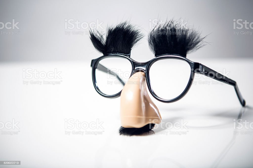 Classic Disguise Glasses with Big Nose stock photo