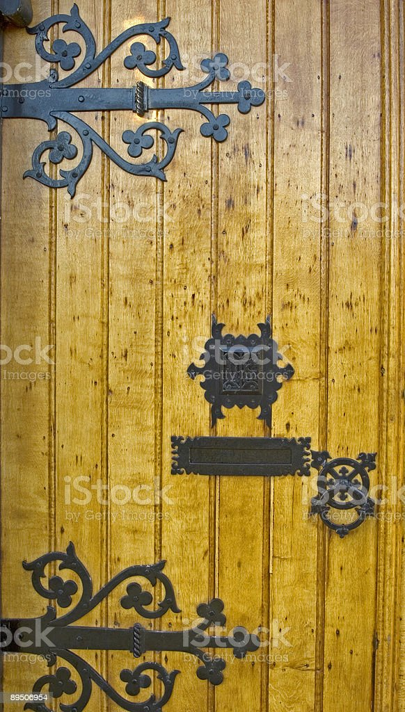 Classic Door (detail) royalty-free stock photo