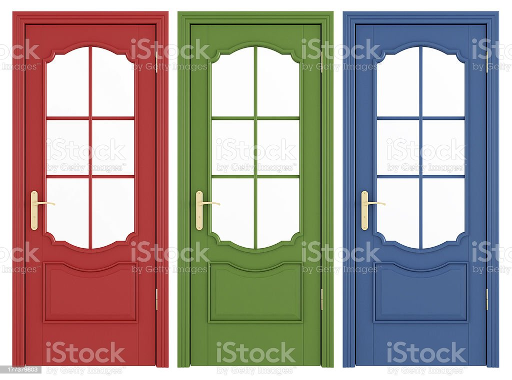Classic doors stock photo