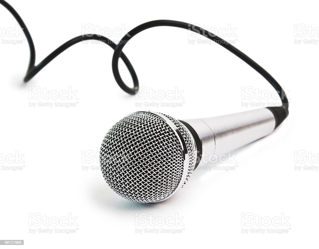 Classic dynamic microphone royalty-free stock photo