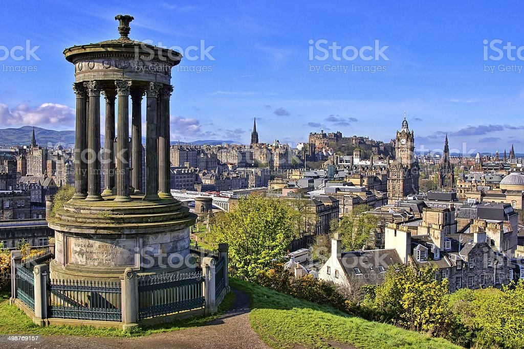 Classic Edinburgh view stock photo