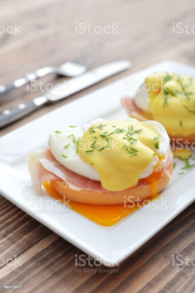 Classic Egg Benedict royalty-free stock photo