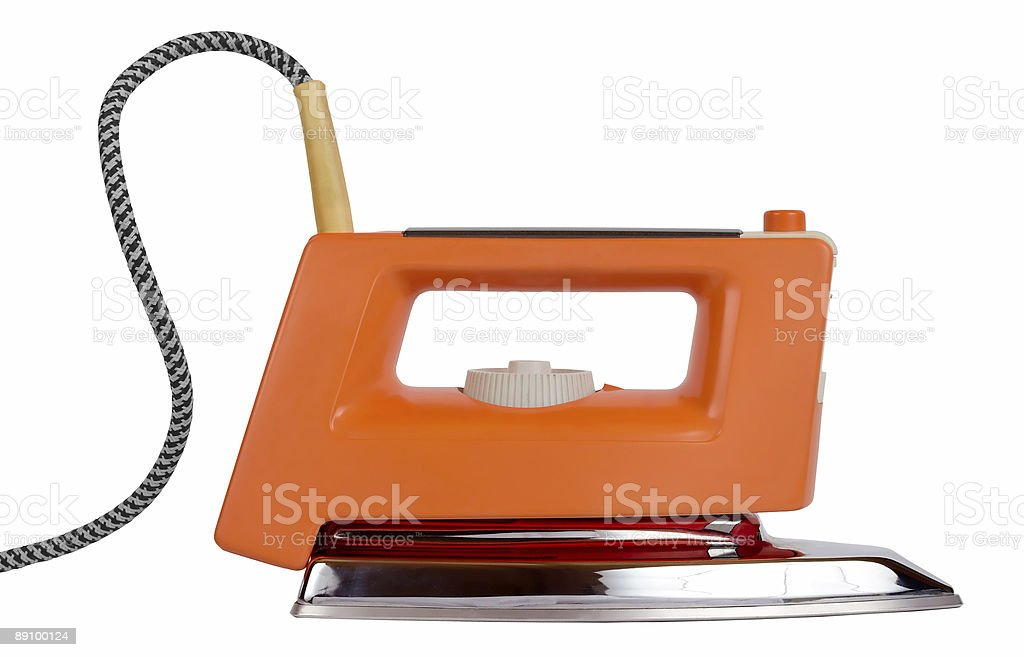 Classic electric iron royalty-free stock photo