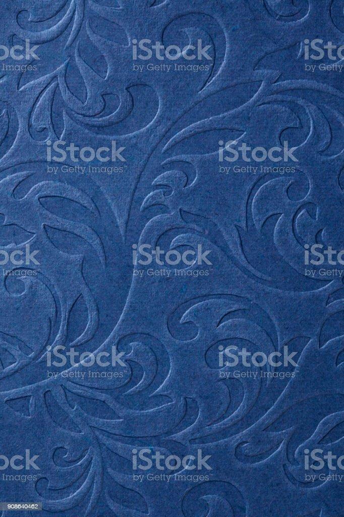 Classic embossed wallpaper stock photo