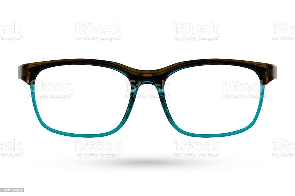 Classic Fashion eyeglasses style isolated on white background. stock photo
