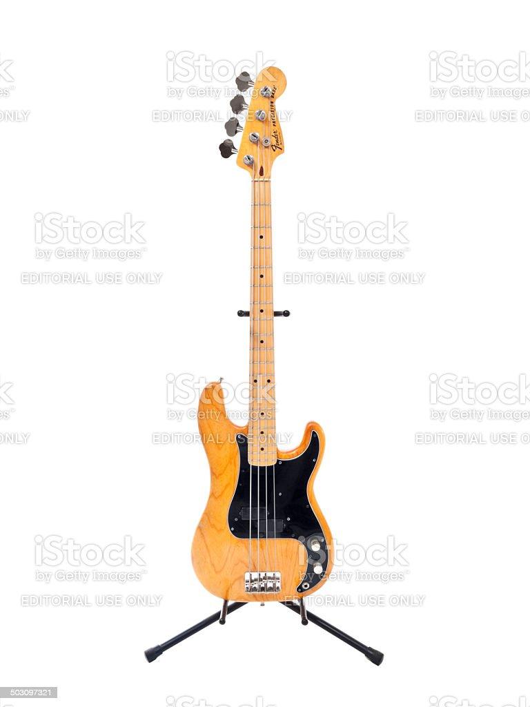 Classic Fender Precision Bass Guitar stock photo