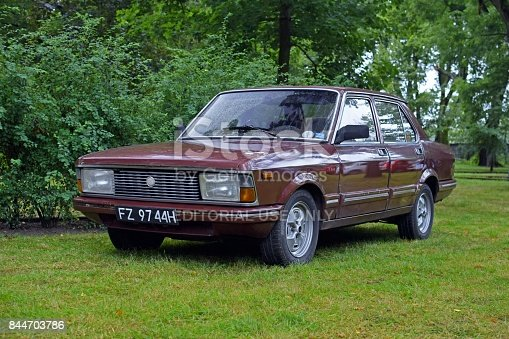 Smoszewo, Poland - September 2nd, 2017: Fiat Argenta (1981-1984) parked on the grass during the public meeting of Italian car friends. This vehicle is one of the most rarest classic cars with 80s.