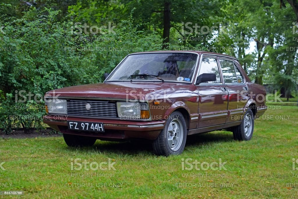 Classic Fiat Argenta on the grass stock photo