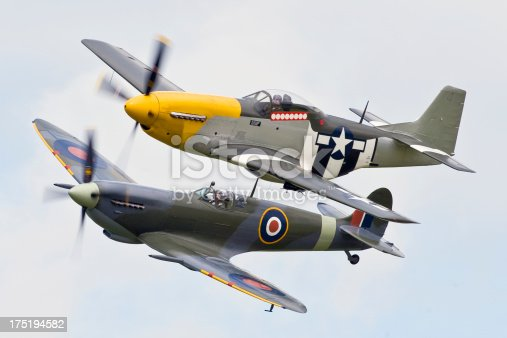 istock Classic Fighters of Word War Two 175194582