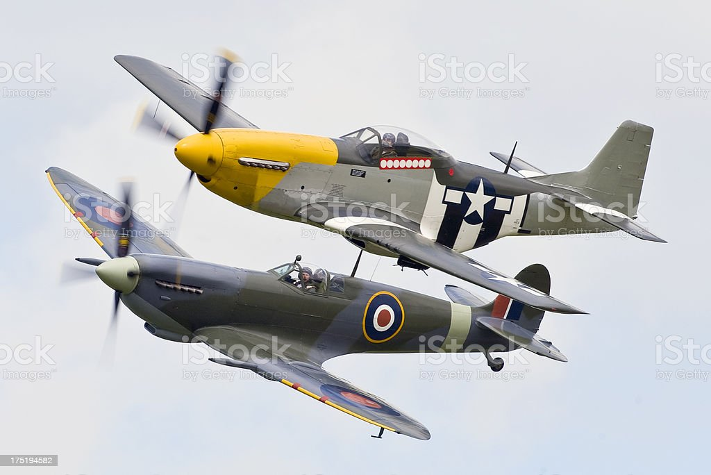 Classic Fighters of Word War Two stock photo
