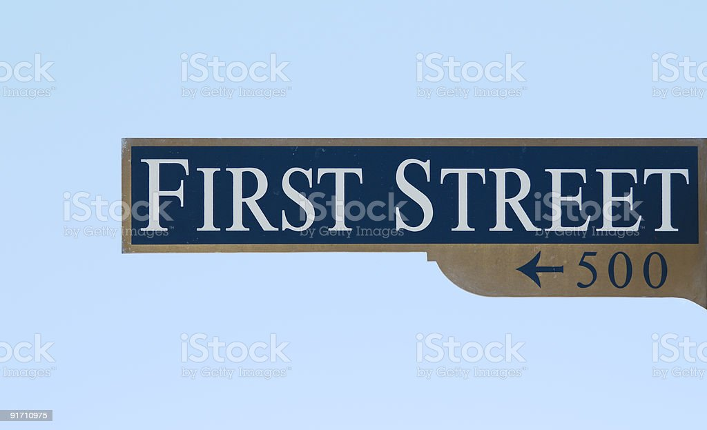 Classic First Street Sign royalty-free stock photo