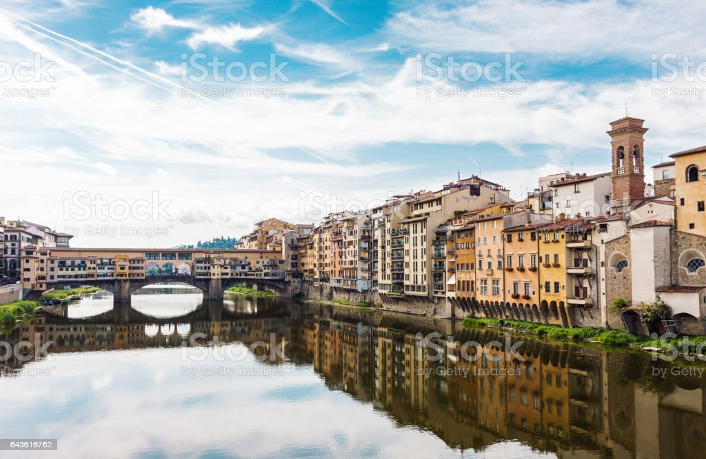Classic Florence city view stock photo