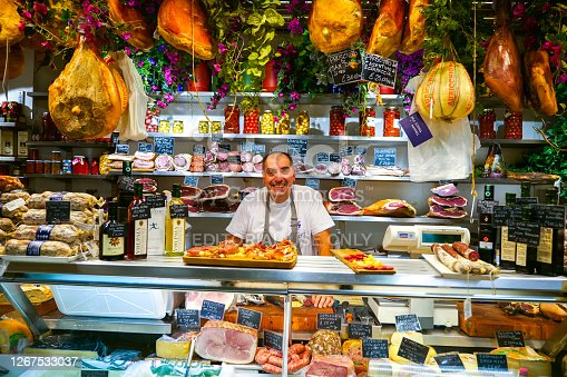 istock A classic Florentine grocer in the Central Market of Florence 1267533037