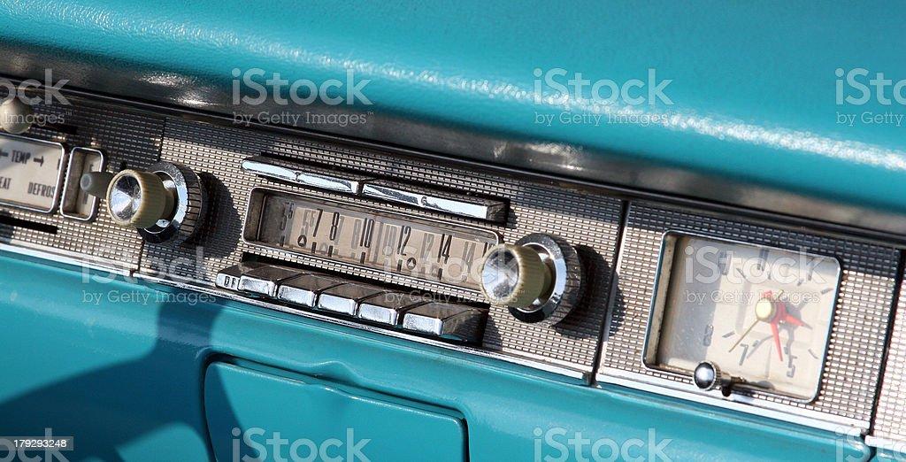 Classic Ford Fairlane Dashboard stock photo