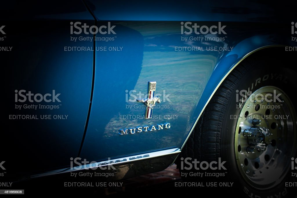 Classic Ford mustang on annual oldtimer car show stock photo