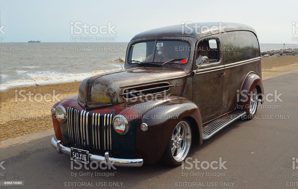 Classic Ford Van stock photo