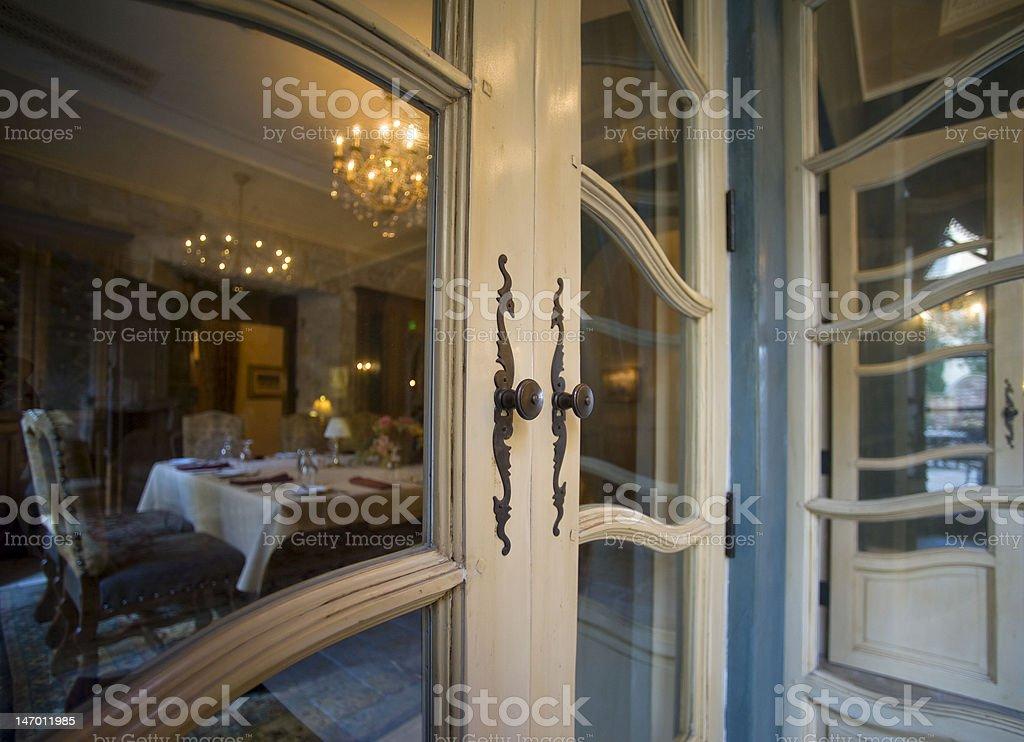 Classic French Doors stock photo