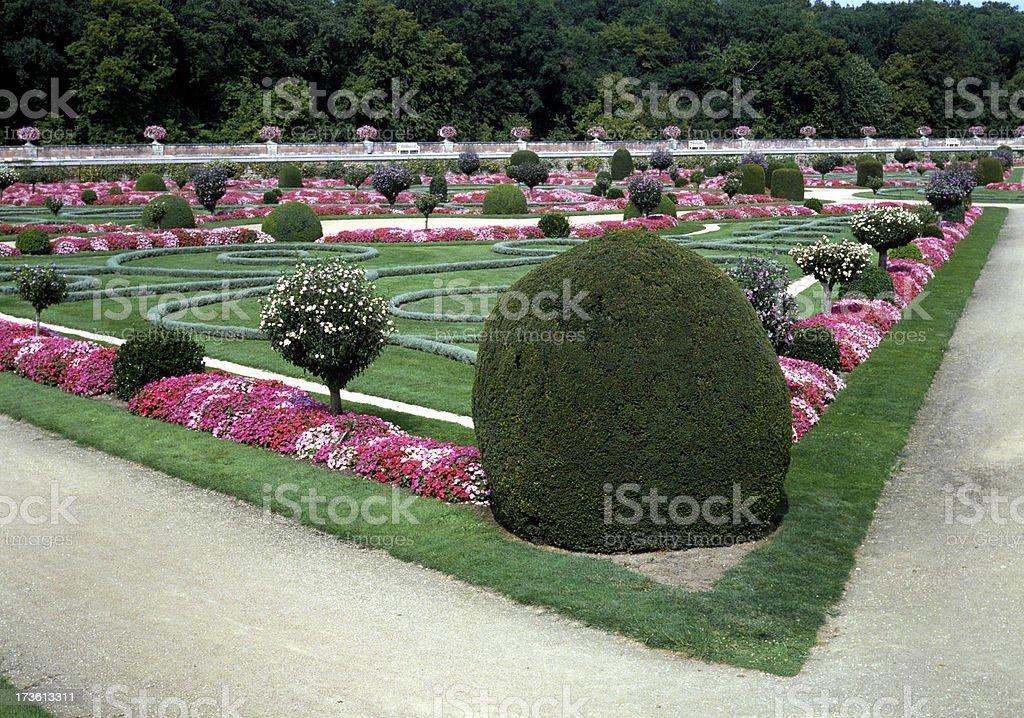 classic French garden stock photo