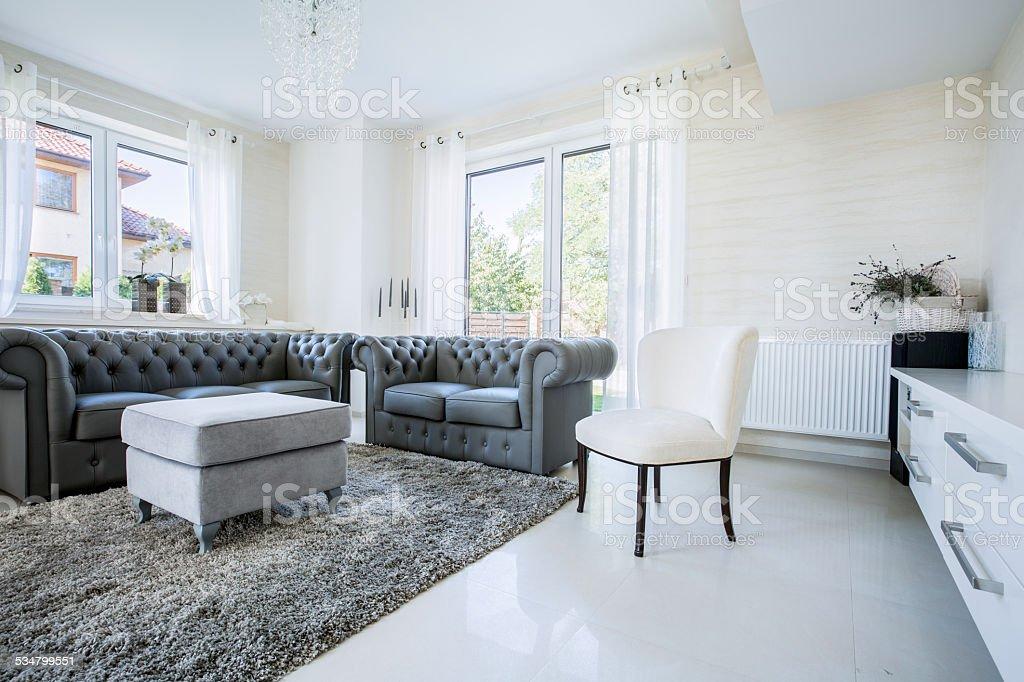 Classic furniture in modern house stock photo