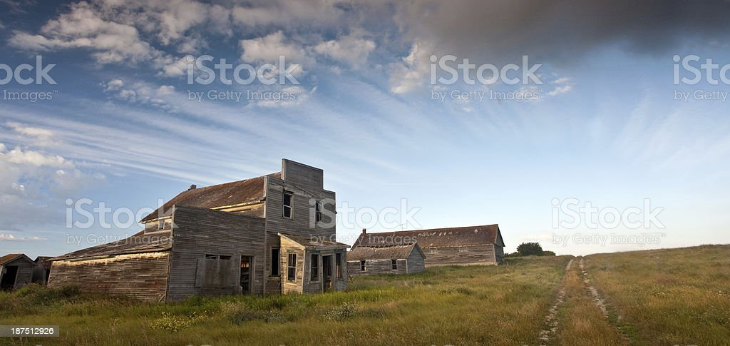 Classic Ghost Town on the Plains royalty-free stock photo