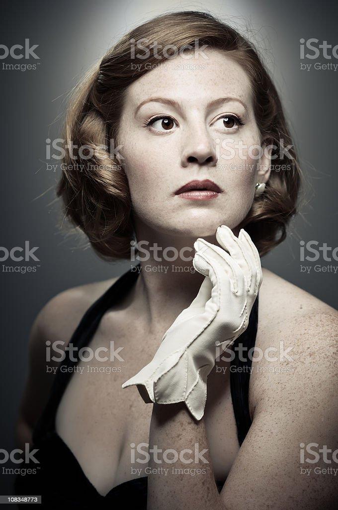 Classic Girl Portrait stock photo