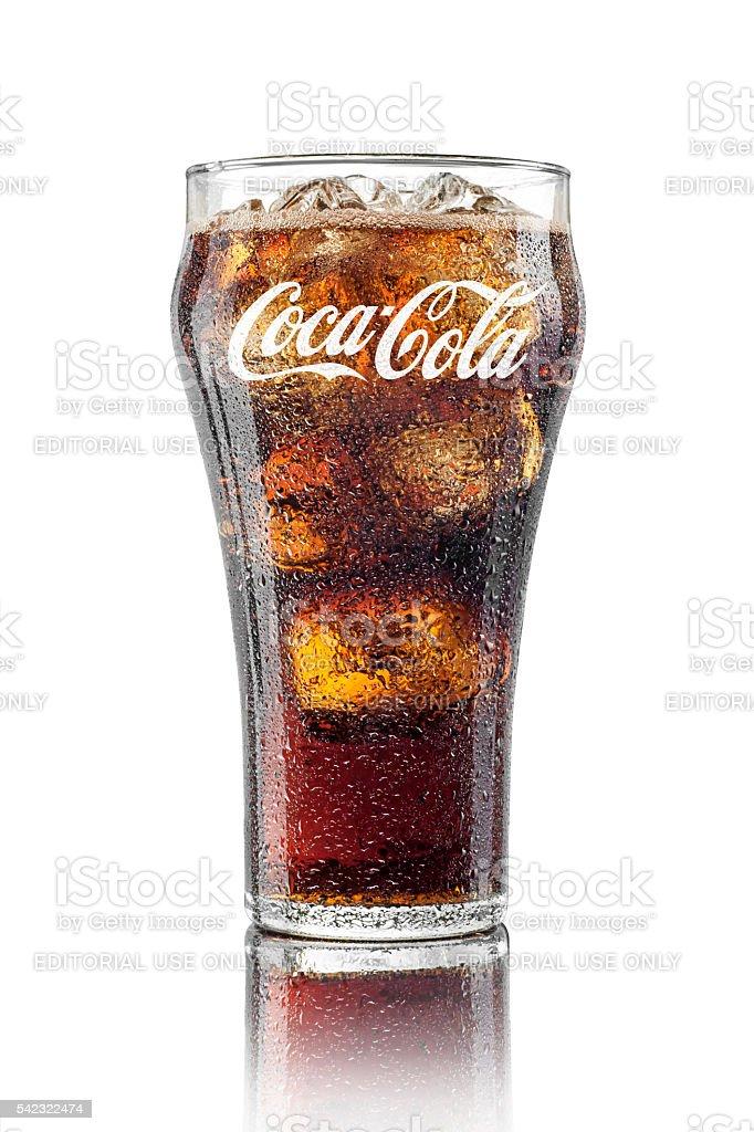 Klassische Glas von Coca-Cola – Foto