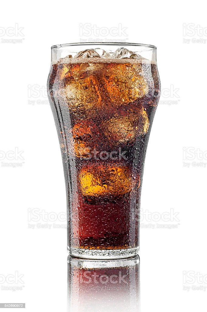 Classic Glass of Cola stock photo
