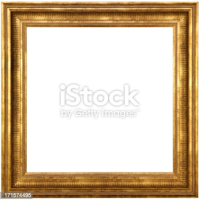 Classic Gold Picture Frame With Clipping Path. When you place this image in your layout program it will come-in with no background due to the clipping path, so you can lay it over your image, graphic or anything square for instant enhancement.