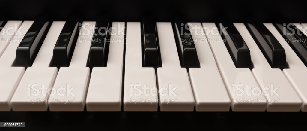 Classic Grand Piano Keyboard With Glossy Black And White Keys As A Music Background In Panoramic Banner Format Stock Photo Download Image Now Istock
