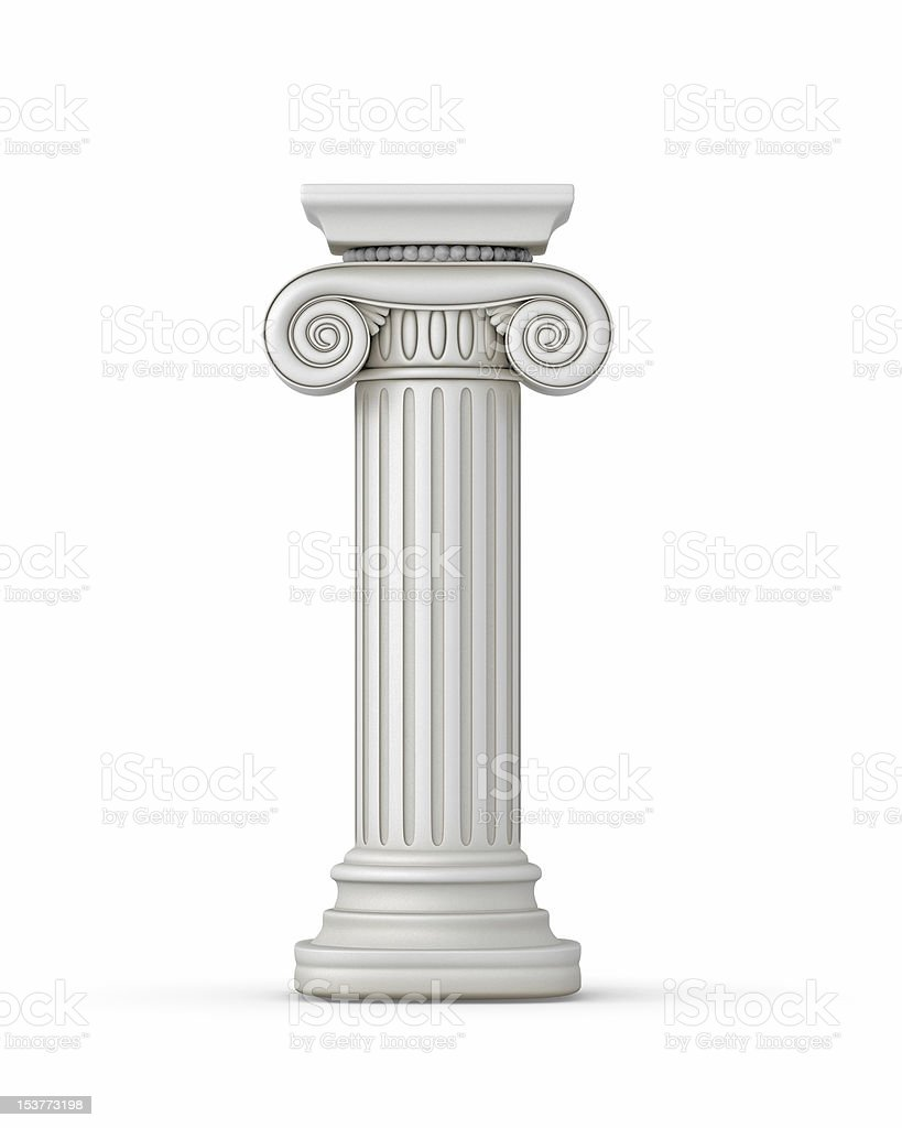 Classic Greek Column stock photo