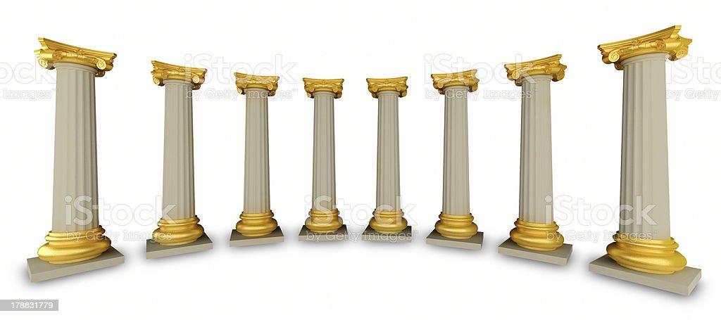 Classic Greek Column stock photo