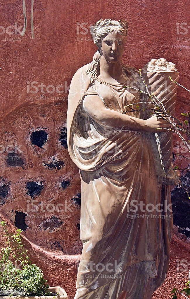 Classic Greek statue of a Goddess stock photo