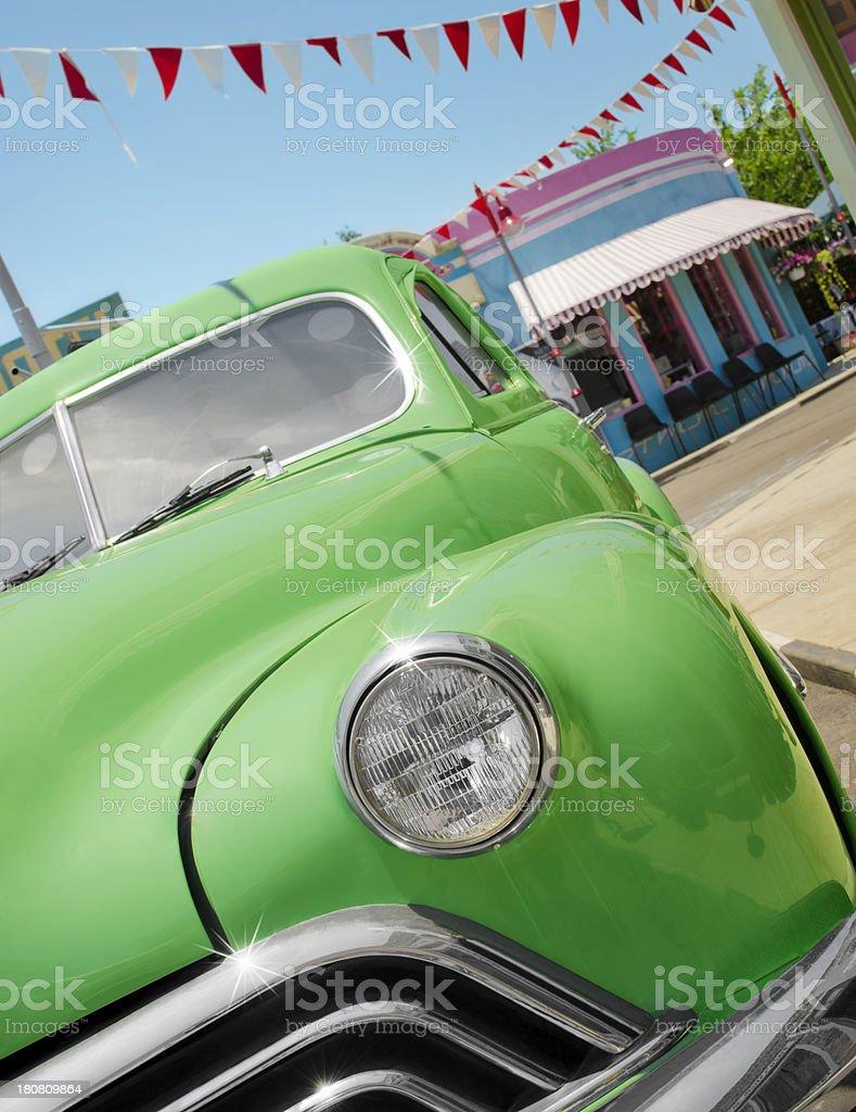 Classic green car royalty-free stock photo
