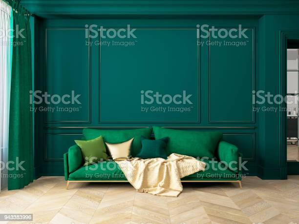 Classic green interior with sofa 3d render interior mock up picture id943383996?b=1&k=6&m=943383996&s=612x612&h=7o2gqrzfaqfvrqbyzbrmb6u3gidbe l44oe6v97jrga=