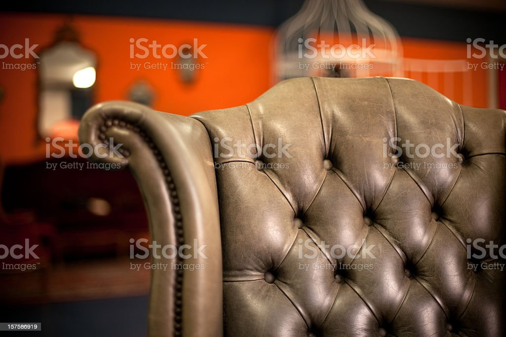 Classic grey chair royalty-free stock photo