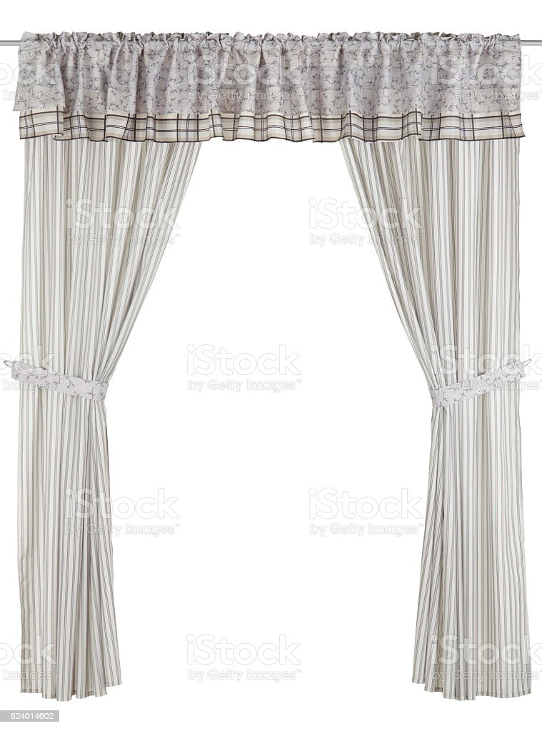Classic grey curtain stock photo