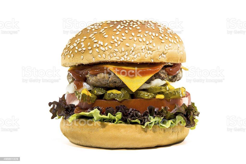 Classic hamburger stock photo