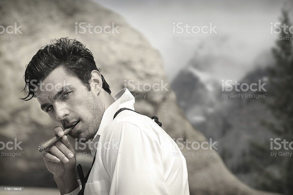 Classic handsome man royalty-free stock photo