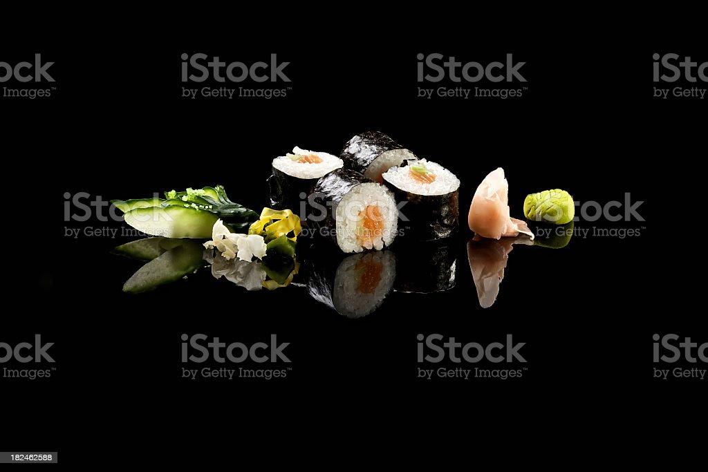 Classic HosoMaki Salmon royalty-free stock photo