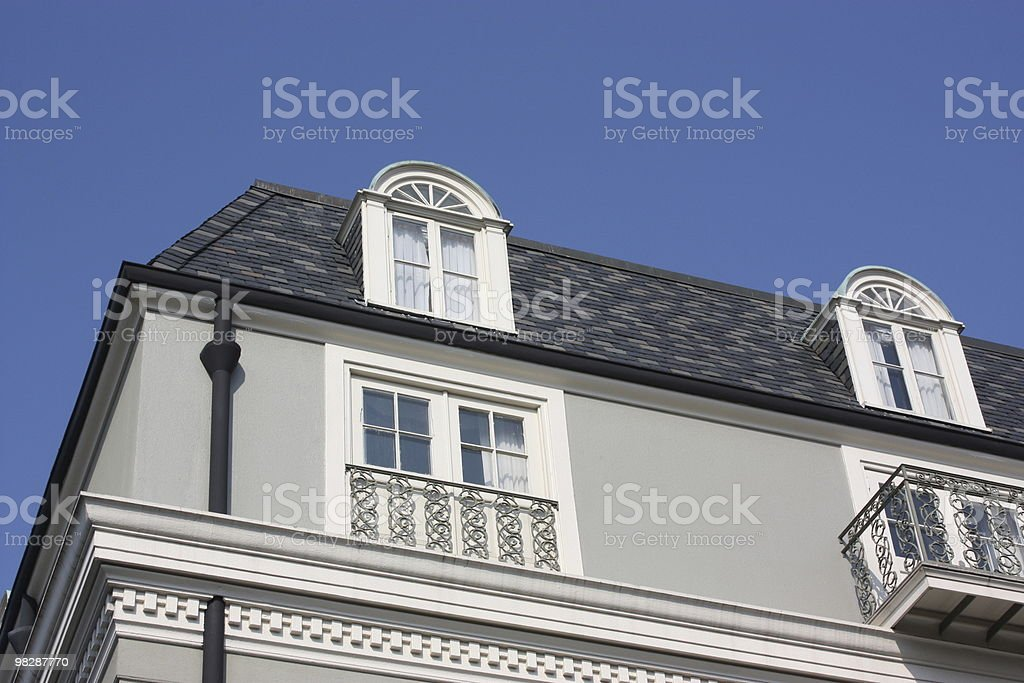Classic house at the French Quarter in New Orleans, Louisiana royalty-free stock photo