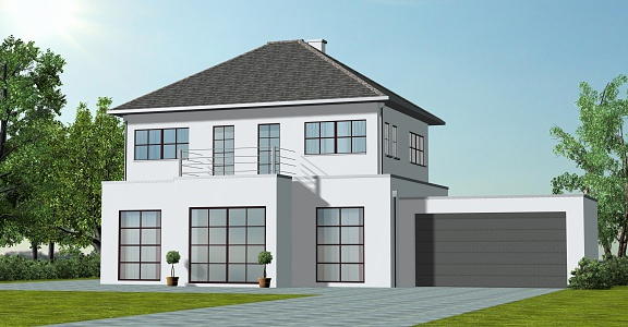 classic House with Garage