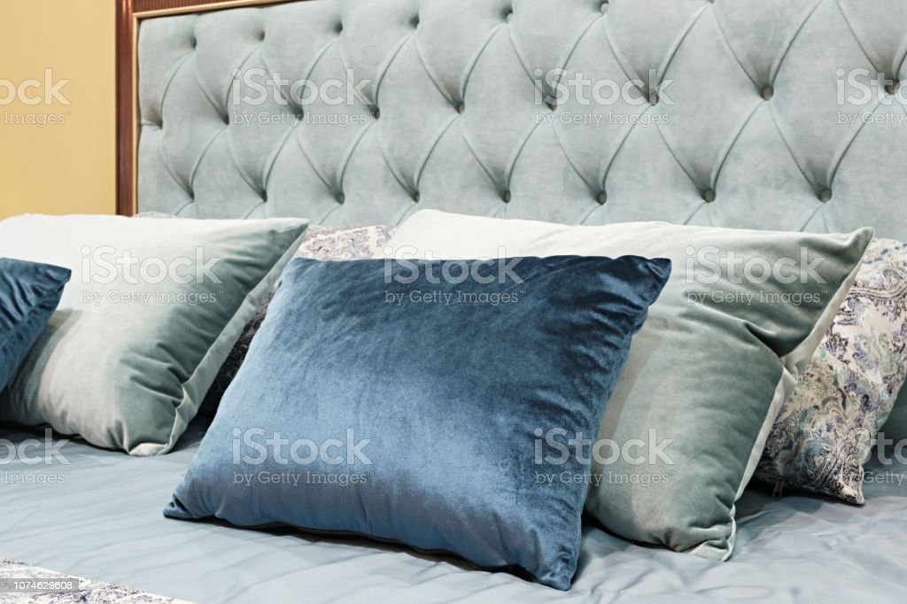 Klassisches Interieur Design Schlafzimmer Grau Und Blau ...