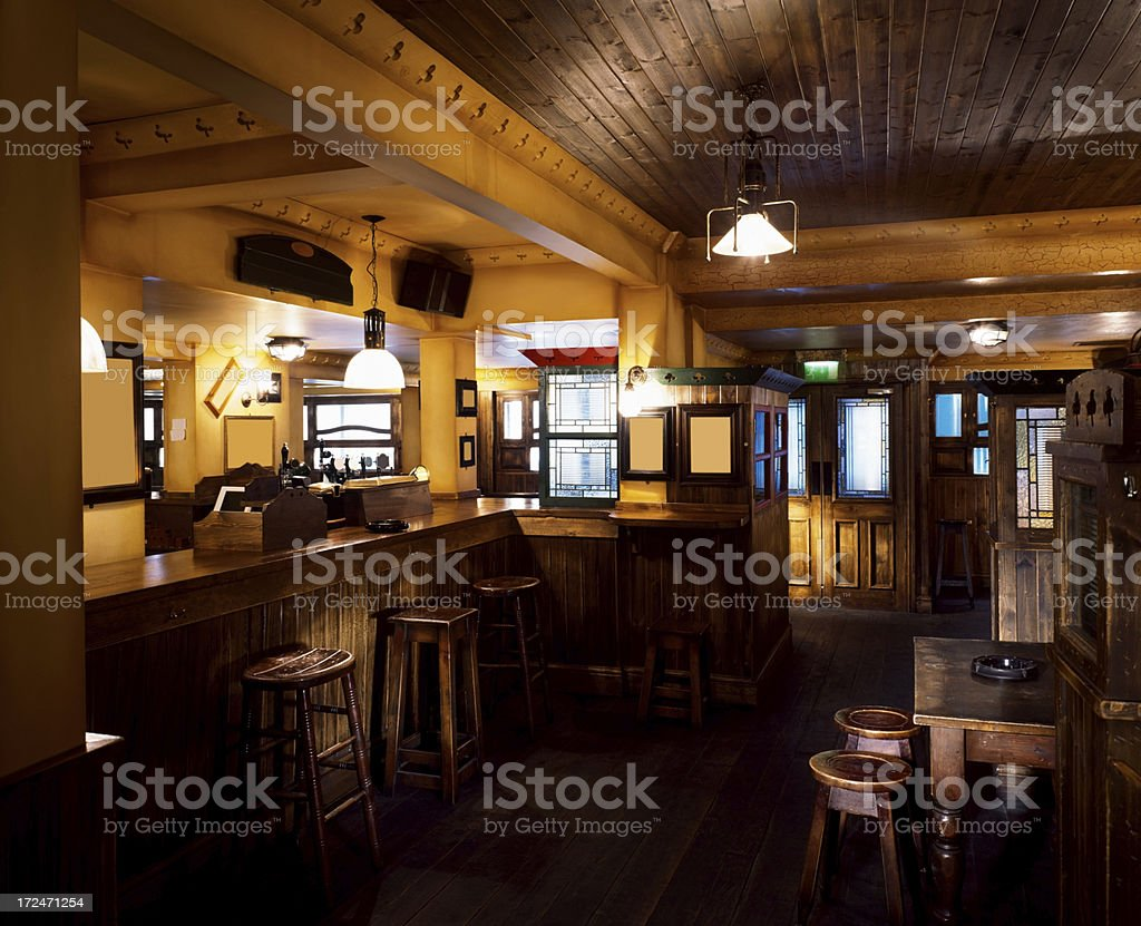 Classic Irish bar stock photo