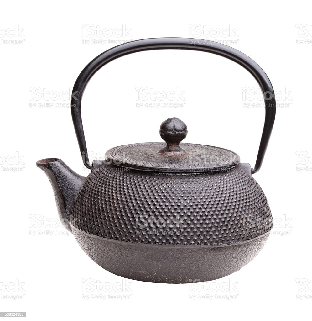 classic iron kettle stock photo