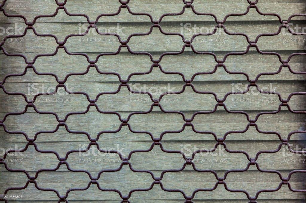 Classic iron shop window lattice texture - Shutter stock photo