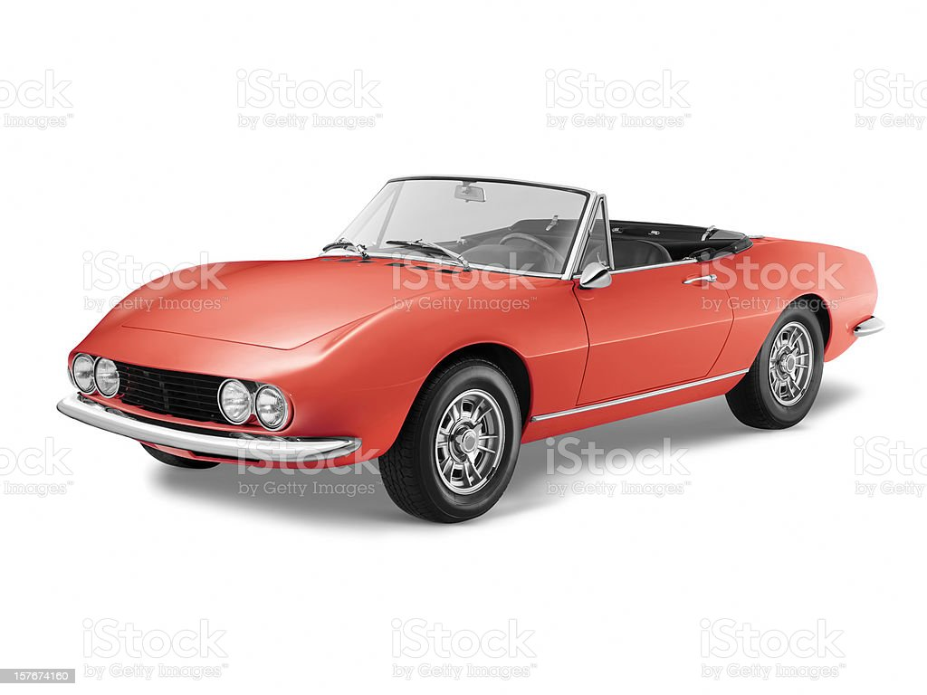 Classic Italian sports car stock photo