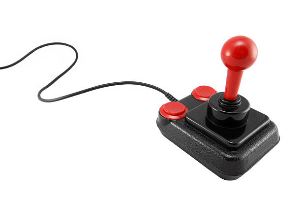 Classic joystick on white background  joystick stock pictures, royalty-free photos & images